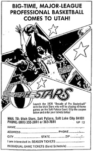 Advertisement published in The Salt Lake Tribune.