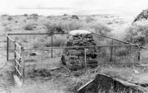 Uriah Wenner's gravesite on Fremont Island. Used by permission, Utah State Historical Society, all rights reserved.