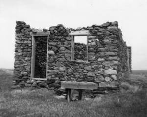 The family's residence on Fremont Island. Used by permission, Utah State Historical Society, all rights reserved.