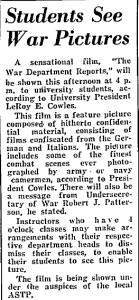 students see war film